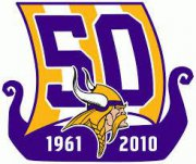 Wholesale Cheap Stitched Minnesota Vikings 50th Anniversary Jersey Patch