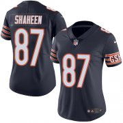 Wholesale Cheap Nike Bears #87 Adam Shaheen Navy Blue Team Color Women's Stitched NFL Vapor Untouchable Limited Jersey