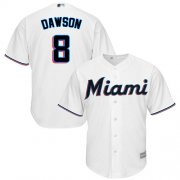Wholesale Cheap Marlins #8 Andre Dawson White Cool Base Stitched Youth MLB Jersey