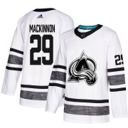 Wholesale Cheap Adidas Avalanche #29 Nathan MacKinnon White Authentic 2019 All-Star Stitched Youth NHL Jersey