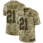 Wholesale Cheap Nike Redskins #21 Sean Taylor Camo Youth Stitched NFL Limited 2018 Salute to Service Jersey