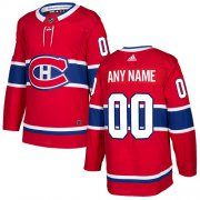 Wholesale Cheap Men's Adidas Canadiens Personalized Authentic Red Home NHL Jersey
