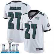 Wholesale Cheap Nike Eagles #27 Malcolm Jenkins White Super Bowl LII Youth Stitched NFL Vapor Untouchable Limited Jersey