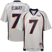 Wholesale Cheap Youth Denver Broncos #7 John Elway Mitchell & Ness Platinum NFL 100 Retired Player Legacy Jersey