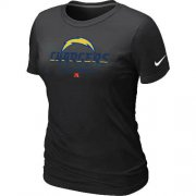 Wholesale Cheap Women's Nike Los Angeles Chargers Critical Victory NFL T-Shirt Black