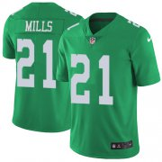 Wholesale Cheap Nike Eagles #21 Jalen Mills Green Men's Stitched NFL Limited Rush Jersey