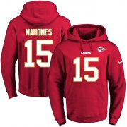 Wholesale Cheap Nike Chiefs #15 Patrick Mahomes Red Name & Number Pullover NFL Hoodie