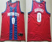 Wholesale Cheap Men's Detroit Pistons #0 Andre Drummond NEW Red 2020 City Edition NBA Swingman Jersey