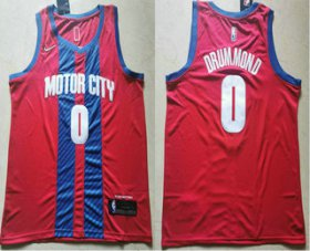 Wholesale Cheap Men\'s Detroit Pistons #0 Andre Drummond NEW Red 2020 City Edition NBA Swingman Jersey