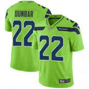 Wholesale Cheap Nike Seahawks #22 Quinton Dunbar Green Men's Stitched NFL Limited Rush Jersey