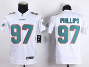 Wholesale Cheap Nike Dolphins #97 Jordan Phillips White Youth Stitched NFL New Elite Jersey