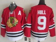 Wholesale Cheap Blackhawks #9 Bobby Hull Red CCM Throwback Stitched NHL Jersey