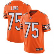 Wholesale Cheap Nike Bears #75 Kyle Long Orange Men's Stitched NFL Limited Rush Jersey