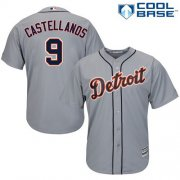 Wholesale Cheap Tigers #9 Nick Castellanos Grey Cool Base Stitched Youth MLB Jersey