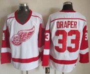 Wholesale Cheap Red Wings #33 Kris Draper White CCM Throwback Stitched NHL Jersey