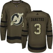 Wholesale Cheap Adidas Devils #3 Ken Daneyko Green Salute to Service Stitched NHL Jersey