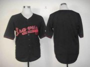 Wholesale Cheap Braves Blank Black Fashion Stitched MLB Jersey