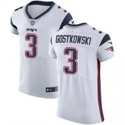 Wholesale Cheap Nike Patriots #3 Stephen Gostkowski White Men's Stitched NFL Vapor Untouchable Elite Jersey