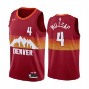 Wholesale Cheap Nike Nuggets #4 Paul Millsap Red NBA Swingman 2020-21 City Edition Jersey