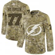 Wholesale Cheap Adidas Lightning #77 Victor Hedman Camo Authentic Stitched NHL Jersey