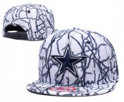 Wholesale Cheap Cowboys Team Logo White Adjustable Hat TX
