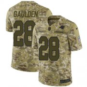Wholesale Cheap Nike Panthers #28 Rashaan Gaulden Camo Men's Stitched NFL Limited 2018 Salute To Service Jersey