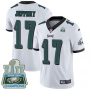 Wholesale Cheap Nike Eagles #17 Alshon Jeffery White Super Bowl LII Champions Men's Stitched NFL Vapor Untouchable Limited Jersey