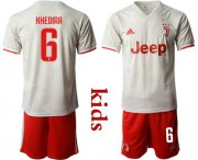 Wholesale Cheap Juventus #6 Khedira Away Kid Soccer Club Jersey
