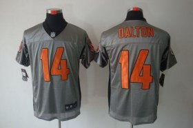 Wholesale Cheap Nike Bengals #14 Andy Dalton Grey Shadow Men\'s Stitched NFL Elite Jersey