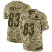 Wholesale Cheap Nike Steelers #83 Heath Miller Camo Youth Stitched NFL Limited 2018 Salute to Service Jersey