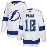 Cheap Adidas Lightning #18 Ondrej Palat White Road Authentic Stitched Youth NHL Jersey