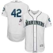 Wholesale Cheap Seattle Mariners #42 Majestic 2019 Jackie Robinson Day Flex Base Jersey White