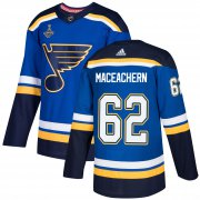 Wholesale Cheap Adidas Blues #62 Mackenzie MacEachern Blue Home Authentic 2019 Stanley Cup Champions Stitched NHL Jersey