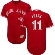 Wholesale Cheap Blue Jays #11 Kevin Pillar Red Flexbase Authentic Collection Canada Day Stitched MLB Jersey