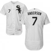 Wholesale Cheap White Sox #7 Tim Anderson White(Black Strip) Flexbase Authentic Collection Stitched MLB Jersey