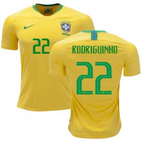 Wholesale Cheap Brazil #22 Rodriguinho Home Soccer Country Jersey