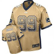 Wholesale Cheap Nike Rams #99 Aaron Donald Gold Men's Stitched NFL Elite Drift Fashion Jersey