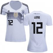 Wholesale Cheap Women's Germany #12 Leno White Home Soccer Country Jersey