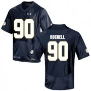 Wholesale Cheap Notre Dame Fighting Irish 90 Isaac Rochell Navy College Football Jersey