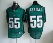 Wholesale Cheap Eagles #55 Stewart Bradley Light Green Stitched NFL Jersey