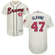 Wholesale Cheap Braves #47 Tom Glavine Cream Flexbase Authentic Collection Stitched MLB Jersey