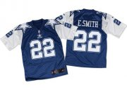 Wholesale Cheap Nike Cowboys #22 Emmitt Smith Navy Blue/White Throwback Men's Stitched NFL Elite Jersey