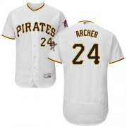 Wholesale Cheap Pirates #24 Chris Archer White Flexbase Authentic Collection Stitched MLB Jersey
