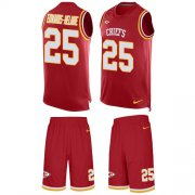 Wholesale Cheap Nike Chiefs #25 Clyde Edwards-Helaire Red Team Color Men's Stitched NFL Limited Tank Top Suit Jersey