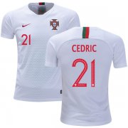 Wholesale Cheap Portugal #21 Cedric Away Kid Soccer Country Jersey