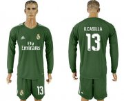 Wholesale Cheap Real Madrid #13 K.Casilla Green Goalkeeper Long Sleeves Soccer Club Jersey