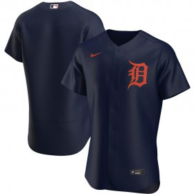 Wholesale Cheap Detroit Tigers Men\'s Nike Navy Alternate 2020 Authentic Team MLB Jersey