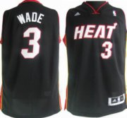 Wholesale Cheap Miami Heat #3 Dwyane Wade Revolution 30 Swingman Black Jersey