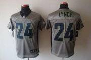 Wholesale Cheap Nike Seahawks #24 Marshawn Lynch Grey Shadow Men's Stitched NFL Elite Jersey