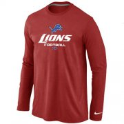 Wholesale Cheap Nike Detroit Lions Critical Victory Long Sleeve T-Shirt Red